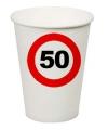 Feest bekertjes 50 jaar stopbord