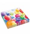 Feest servetten met ballonnenopdruk papier 33cm 20st