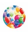 Feestbordjes met ballonnen opdruk karton 23cm 8st
