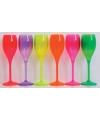 Fluoriserend roze glas