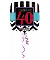 Folie ballon 40 jaar 43 cm