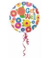 Folie ballon bloemen beterschap