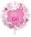 Folie ballon meisje geboren