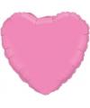 Folie ballon roze hart 45 cm