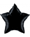 Folie ballon zwarte ster 50 cm