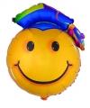 Folieballon geslaagd smiley 67 cm