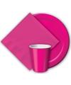 Fuchsia roze bekers