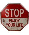 Fun verkeersbord stop enjoy your life