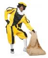 Geel zwarte pieten kostuum fluweel