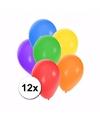 Gekleurde ballonnen 12 stuks