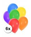 Gekleurde ballonnen 6 stuks
