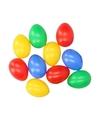 Gekleurde plastic eieren 10 stuks