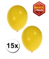 Gele ballonnen 15 stuks