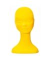 Gele fluwelen pashoofd