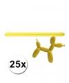 Gele modelleer ballonnen 25 stuks