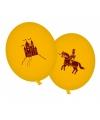 Gele ridder thema ballonnen