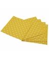 Gele wegwerp servetten met witte stippen 16st