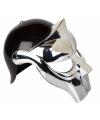 Gladiator helm zwart zilver