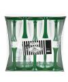 Glazen met groene voet 10 stuks