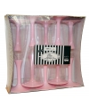Glazen met roze voet 10 stuks
