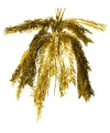 Glitter decoratie hanger goud 60 cm