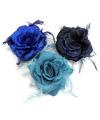 Glitter roos in blauw tinten