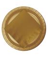 Gouden bordjes 23 cm
