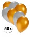 Gouden en zilveren ballonnen 50 stuks