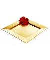 Gouden onderzet bord vierkant 33 cm