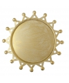 Gouden onderzet bord zon 16 cm