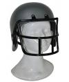 Grijze rugby helm voor kids
