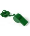 Groen fluitje aan koord