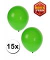 Groene ballonnen 15 stuks