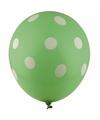 Groene ballonnen met witte stippen 30 cm 5st