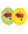 Groene en gele ballonnen 50 jaar