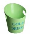 Groene kunststof ijs emmer 28 cm
