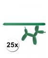 Groene modelleer ballonnen 25 stuks