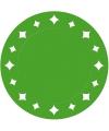 Groene placemats 33 cm