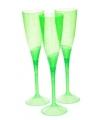 Groene plastic champagne glazen 5 stuks