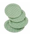 Groene wegwerp bordjes met witte stippen 8x