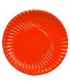 Grote kartonnen bordjes rood 29 cm
