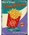 Grote muurplaat french fries 30x40cm