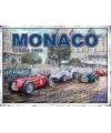 Grote muurplaat grand prix monaco 30x40cm