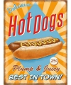 Grote muurplaat hot dogs 30x40cm