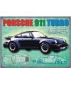 Grote muurplaat porsche 911 turbo 30x40cm