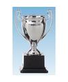 Grote zilveren trofee met oren 18 cm