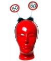 Haarband 50 jaar met verkeersbord print