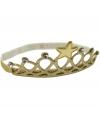 Haarband goud kroontje voor kinderen