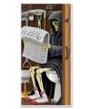 Halloween deurposter magere hein toilet