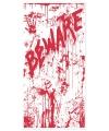 Halloween deurposter met bloed